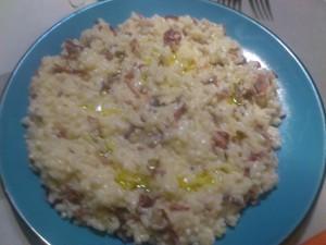 risotto de jamon y jengibre