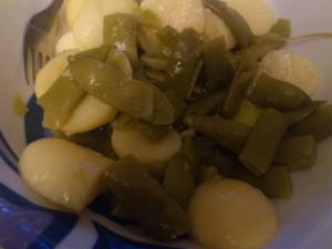 ensalada de judias verdes y patatas