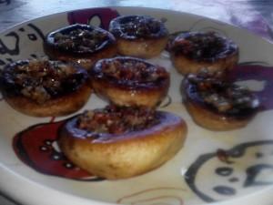 champ rellenos de jamon